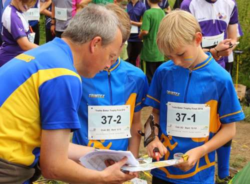 Checking the map at the start