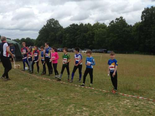 Junior relay teams get ready to start