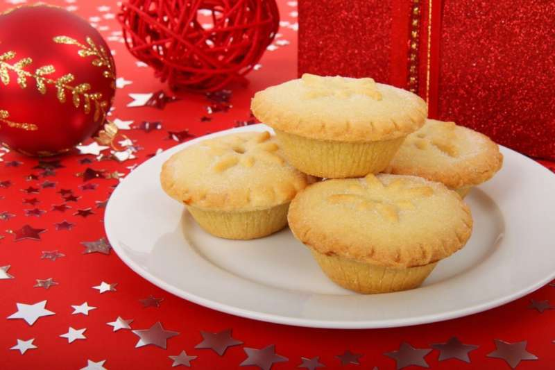 Enjoy mince pies and mulled wine