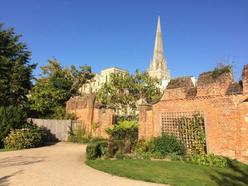 The Cathedral from Bishop's Palace Gardens