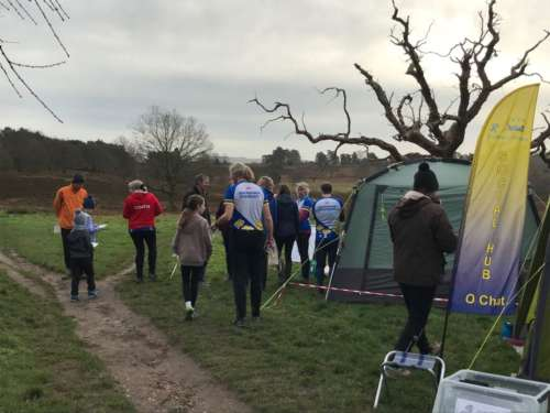 Gathering before the start at Coates Common