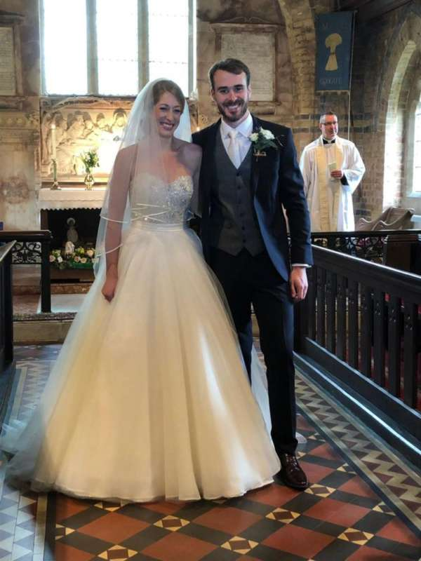 Lucy and Matt tie the knot